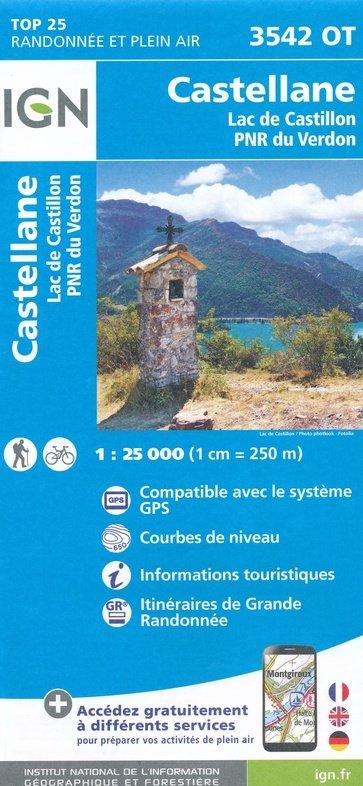 3542OT  Castellane, Lac de Castillon | wandelkaart 1:25.000 9782758541967  IGN TOP 25 (1:25.000) Wandelkaarten Haute-Provence  Wandelkaarten tussen Valence, Briançon, Camargue en Nice