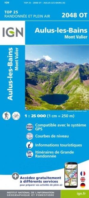 2048OT  Aulus-les-Bains | wandelkaart 1:25.000 9782758542742  IGN TOP 25  Wandelkaarten Franse Pyreneeën, Toulouse, Gers, Garonne