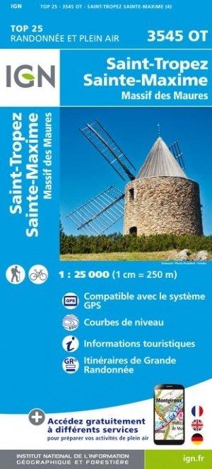 3545OT   St-Tropez, Ste-Maxime   wandelkaart 1:25.000 9782758542858  IGN TOP 25  Wandelkaarten Var, Côte d'Azur, Mercantour