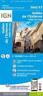 3642ET  Vallée de l'Estéron - Coursegoules | wandelkaart 1:25.000 9782758542872  IGN TOP 25  Wandelkaarten Franse Alpen: zuid
