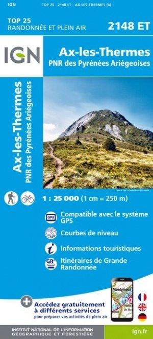 2148ET   Ax-les-Thermes   wandelkaart 1:25.000 9782758542971  IGN TOP 25  Wandelkaarten Franse Pyreneeën, Toulouse, Gers, Garonne