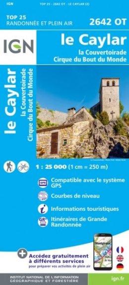 2642OT Le Caylar / La Couvertoirade | wandelkaart 1:25.000 9782758543084  IGN TOP 25  Wandelkaarten Languedoc, Hérault, Aude