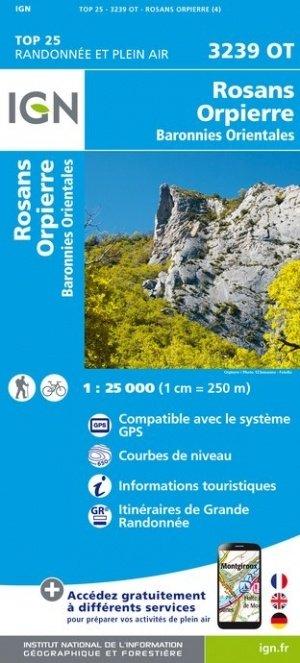 3239OT   Rosans, Orpierre | wandelkaart 1:25.000 9782758543251  IGN TOP 25  Wandelkaarten tussen Valence, Briançon, Camargue en Nice