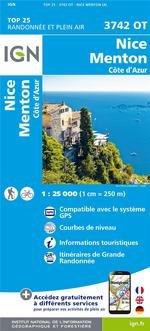 3742OT  Nice, Menton, Monaco | wandelkaart 1:25.000 9782758543367  IGN TOP 25 (1:25.000) Wandelkaarten Côte-d'Azur  Wandelkaarten tussen Valence, Briançon, Camargue en Nice