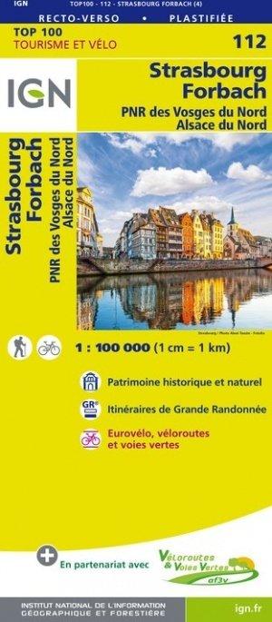 SV-112  Strasbourg/ Forbach 9782758543619  IGN Série Verte 1:100.000  Fietskaarten, Landkaarten en wegenkaarten, Lopen naar Rome Vogezen