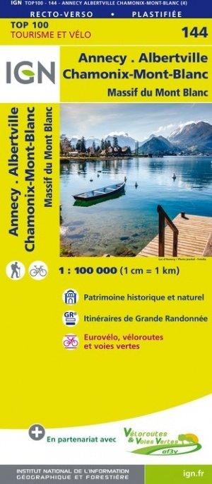 SV-144  Annecy, Thonon-les-Bains | omgevingskaart / fietskaart 1:100.000 9782758543770  IGN Série Verte 1:100.000  Landkaarten en wegenkaarten, Fietskaarten Haute Savoie, Mont Blanc