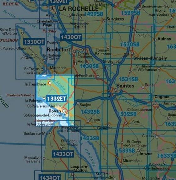 1332ET  Royan, Forêt de la Coubre | wandelkaart 1:25.000 9782758545224  IGN TOP 25  Wandelkaarten Loire Atlantique, Charente, Vendée