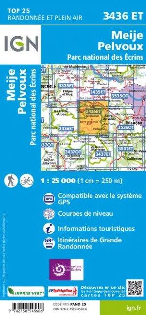 3436ET  Meije, Pelvoux, Vallouise | wandelkaart 1:25.000 9782758545606  IGN TOP 25  Wandelkaarten Écrins, Queyras