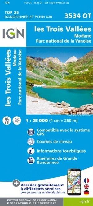 3534OT  les Trois Vallées, Modane | wandelkaart 1:25.000 9782758545644  IGN TOP 25  Wandelkaarten Chartreuse, Bauges, Vanoise
