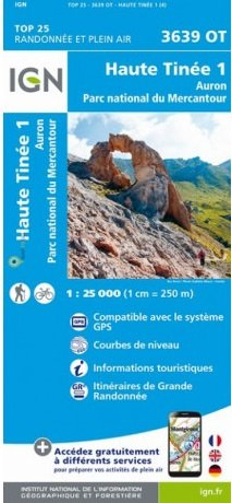 3639OT  Haute Tinée 1, Auron | wandelkaart 1:25.000 9782758545712  IGN TOP 25  Wandelkaarten Var, Côte d'Azur, Mercantour