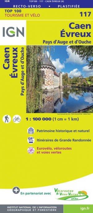 SV-117  Caen, Evreux 9782758547518  IGN Série Verte 1:100.000  Fietskaarten, Landkaarten en wegenkaarten Normandië