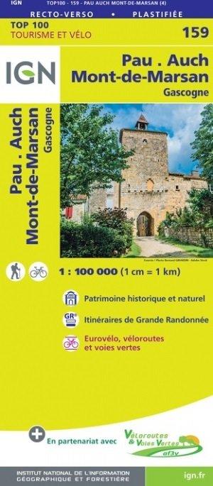 SV-159  Pau, Mont-de-Marsan | omgevingskaart / fietskaart 1:100.000 9782758547709  IGN Série Verte 1:100.000  Fietskaarten, Landkaarten en wegenkaarten Aquitaine, Bordeaux
