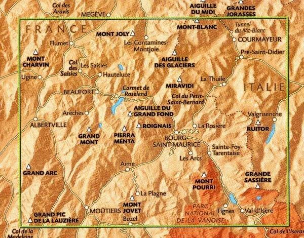 A-2  Beaufortain, Albertville, Bourg-St-Maurice 9782841822133  Rando Ed. Cartes de Randonnée  Wandelkaarten Lyon, Ain, Savoie, Mont Blanc, Vanoise, Chartreuse