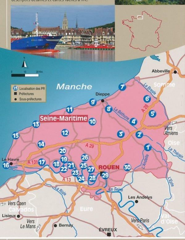Seine-Maritime - Les 30 plus beaux sentiers 9782844663412  Chamina Guides de randonnées  Wandelgidsen Normandië