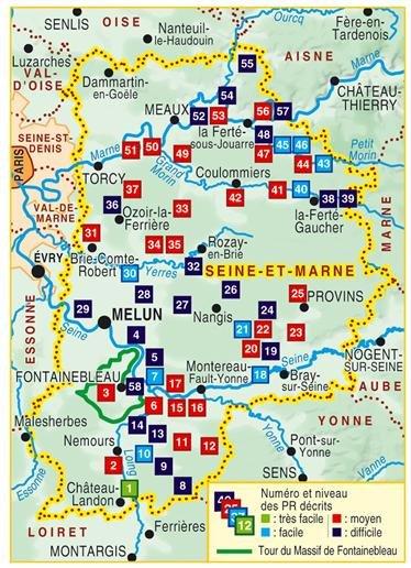 D077  La Seine et Marne à pied; GR2 (voorgaande editie) 9782856998144  FFRP Topoguides  Wandelgidsen Parijs, Île-de-France