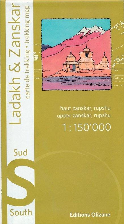 Ladakh & Zanskar South 1:150.000 9782880864149  Olizane   Landkaarten en wegenkaarten Indiase Himalaya