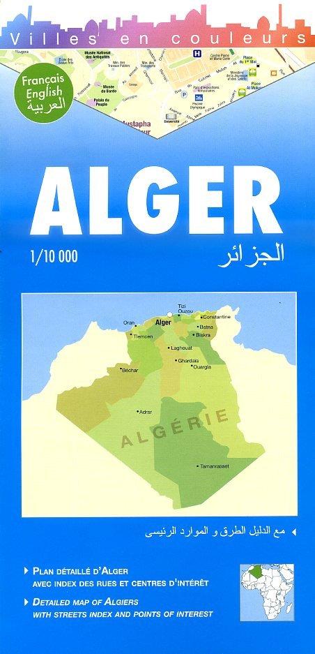 Alger (Algiers) 1:10.000 9782917495025  Laure Kane Villes en Couleurs  Stadsplattegronden Algerije, Tunesië, Libië
