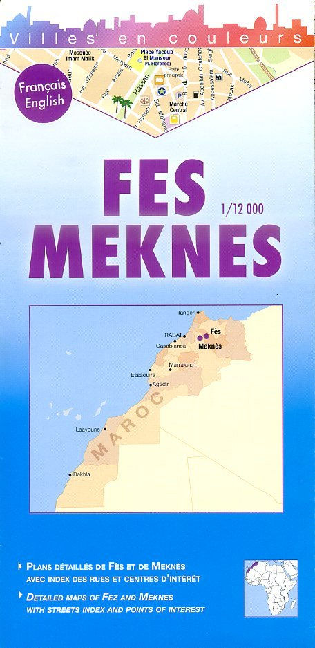 Fes, Meknes 1:12.000 9782917495049  Laure Kane Villes en Couleurs  Stadsplattegronden Marokko