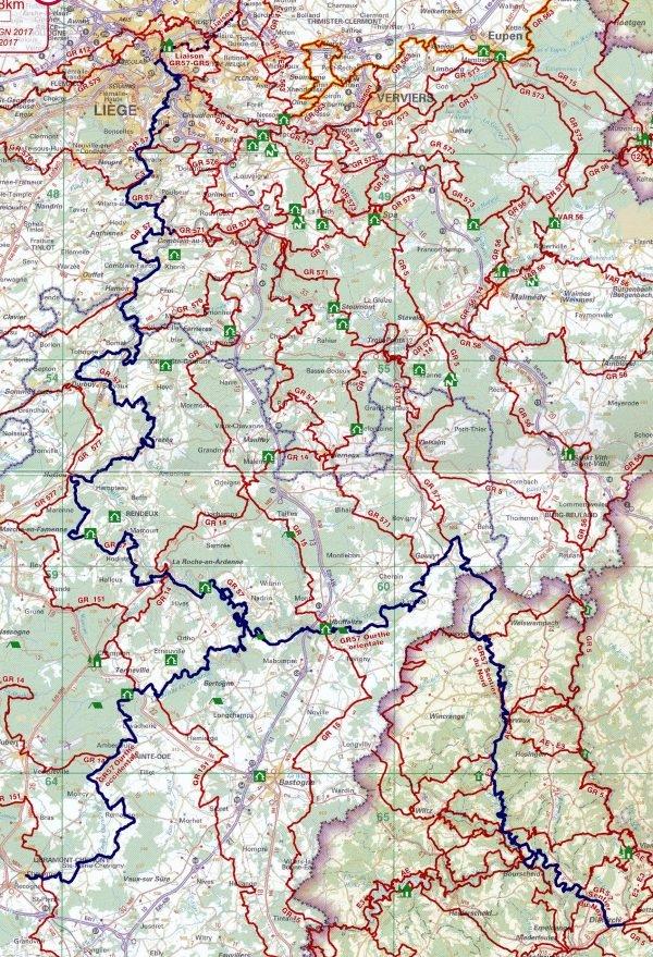GR-57  Sentiers de l'Ourthe   wandelgids 9782930488417  Grote Routepaden Topoguides  Meerdaagse wandelroutes, Wandelgidsen Wallonië (Ardennen)