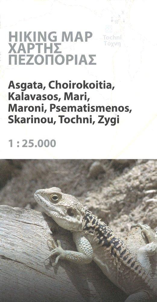 Tochni 1:25.000 9783000407406  Kartographos wandelkaarten Cyprus  Wandelkaarten Cyprus