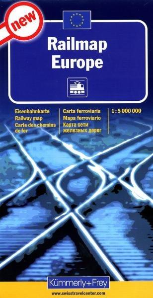 Railmap Europe | Europa Spoorwegenkaart 1:5.000.000 9783259001202  Kümmerly & Frey   Landkaarten en wegenkaarten Europa