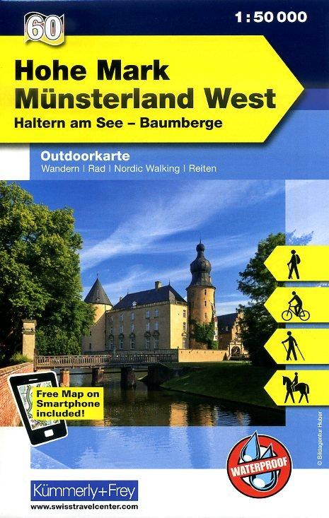 Münsterland West en Hohe Mark 1:50.000 9783259007457  Kümmerly & Frey   Wandelkaarten Sauerland, Münsterland, Teutoburger Wald