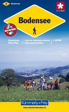 KFW-02  Thurgau-Bodensee | wandelkaart / overzichtskaart 9783259008669  Kümmerly & Frey Wandelkaarten Zwitserland  Wandelkaarten Noordoost- en Centraal Zwitserland