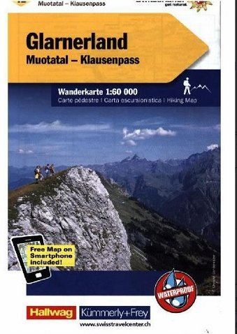 KFW-12  Glarnerland, Walensee | wandelkaart / overzichtskaart 9783259022122  Kümmerly & Frey Wandelkaarten Zwitserland  Wandelkaarten Noordoost- en Centraal Zwitserland