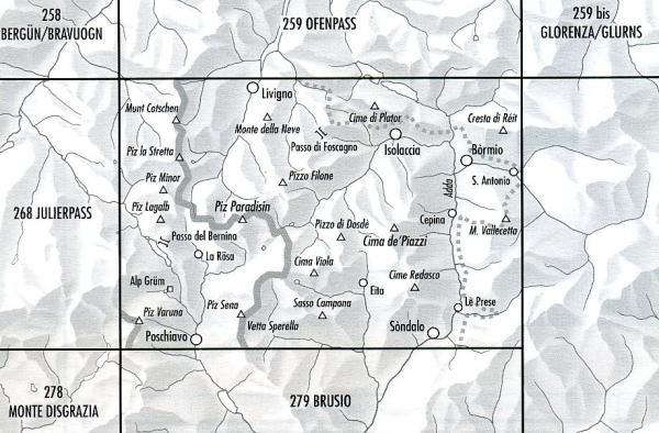 CH269  Passo del Bernina [2011] 9783302002699  Bundesamt Normalblatt 1:50.000  Wandelkaarten Graubünden, Tessin