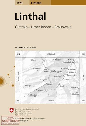 CH-1173  Linthal [2016] topografische wandelkaart 9783302011738  Bundesamt / Swisstopo LKS 1:25.000  Wandelkaarten Noordoost- en Centraal Zwitserland