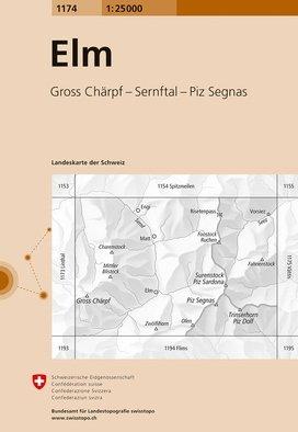 CH-1174  Elm [2016] topografische wandelkaart 9783302011745  Bundesamt / Swisstopo LKS 1:25.000  Wandelkaarten Noordoost- en Centraal Zwitserland