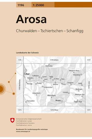 CH-1196  Arosa [2016] topografische wandelkaart 9783302011967  Bundesamt / Swisstopo LKS 1:25.000  Wandelkaarten Graubünden, Tessin