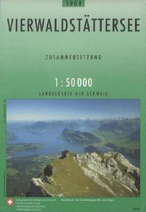 CH5008   Vierwaldstättersee [2010] 9783302050089  Bundesamt / Swisstopo Zusammensetzung 50T  Wandelkaarten Noordoost- en Centraal Zwitserland