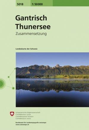 CH5018  Gantrisch - Thuner See [2016] 9783302050188  Bundesamt / Swisstopo Zusammensetzung 50T  Wandelkaarten Berner Oberland, Basel, Jura, Genève