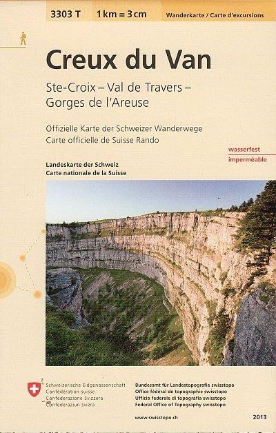 3303T Creux du Van 9783302333038  Bundesamt / Swisstopo Wanderkarten 1:33.333  Wandelkaarten Berner Oberland, Basel, Jura, Genève