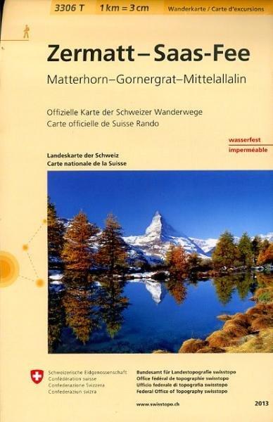 3306T Zermatt - Saas Fee 9783302333069  Bundesamt / Swisstopo Wanderkarten 1:33.333  Wandelkaarten Wallis