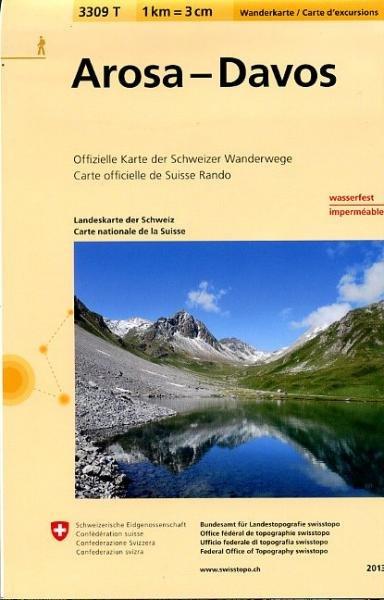 3309T  Arosa - Davos 9783302333090  Bundesamt / Swisstopo Wanderkarten 1:33.333  Wandelkaarten Graubünden, Tessin