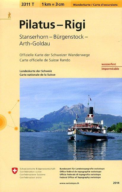 3311T Pilatus,  Rigi 9783302333113  Bundesamt / Swisstopo Wanderkarten 1:33.333  Wandelkaarten Noordoost- en Centraal Zwitserland