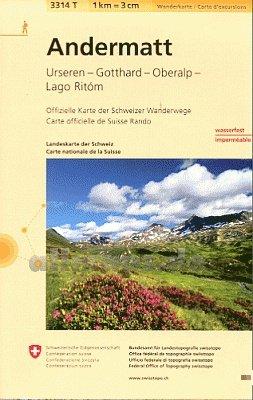 3314T Andermatt 9783302333144  Bundesamt / Swisstopo Wanderkarten 1:33.333  Wandelkaarten Noordoost- en Centraal Zwitserland