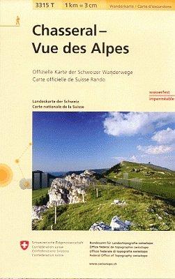 3315T Chasseral - Vue des Alpes 9783302333151  Bundesamt / Swisstopo Wanderkarten 1:33.333  Wandelkaarten Berner Oberland, Basel, Jura, Genève