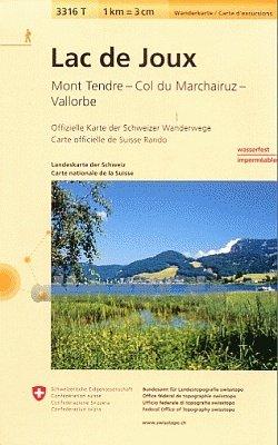 3316T Lac de Joux 9783302333168  Bundesamt / Swisstopo Wanderkarten 1:33.333  Wandelkaarten Berner Oberland, Basel, Jura, Genève