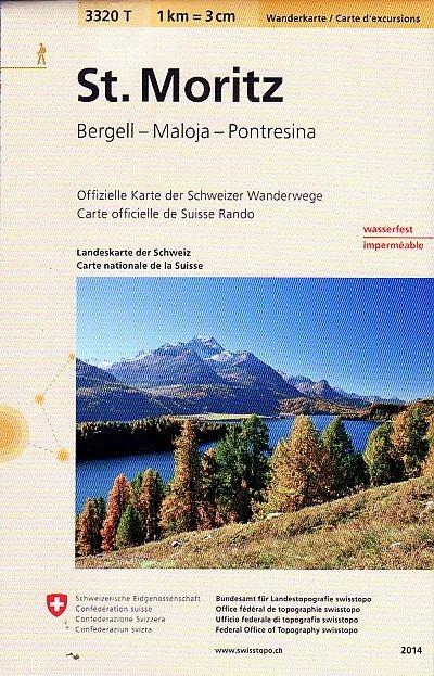 3320T St. Moritz 9783302333205  Bundesamt / Swisstopo Wanderkarten 1:33.333  Wandelkaarten Graubünden, Tessin
