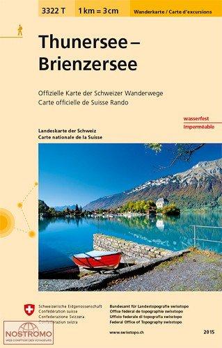 3322T Thunersee, Brienzer See 9783302333229  Bundesamt / Swisstopo Wanderkarten 1:33.333  Wandelkaarten Berner Oberland, Basel, Jura, Genève