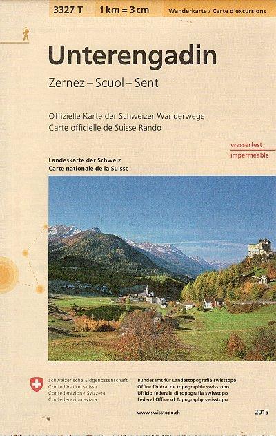 3327T Unterengadin 9783302333274  Bundesamt / Swisstopo Wanderkarten 1:33.333  Wandelkaarten Graubünden, Tessin