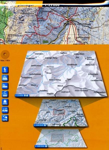 Jungfrau 1:25.000 (Zusammensetzung + CD) 9783302800400  Bundesamt plan&go! Wanderkarten  Wandelkaarten Berner Oberland, Basel, Jura, Genève