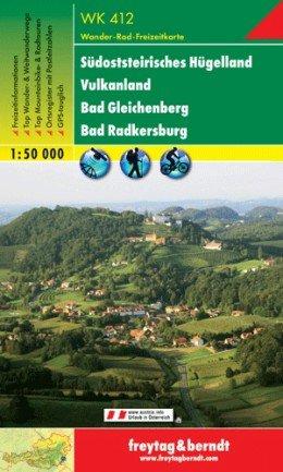 WK-412  Südsteirisches Hügelland/Bad Radkersburg 9783707900064  Freytag & Berndt WK 1:50.000  Wandelkaarten Salzburg, Karinthië, Tauern, Stiermarken