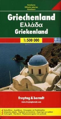 Griekenland | autokaart, wegenkaart 1:500.000 9783707903089  Freytag & Berndt   Landkaarten en wegenkaarten Griekenland