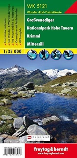 WK-5121  Grossvenediger 1:35.000 9783707903430  Freytag & Berndt WK 1:35.000  Wandelkaarten Salzburg, Karinthië, Tauern, Stiermarken
