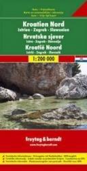 Kroatie 1: Noord | autokaart, wegenkaart 1:200.000 9783707904598  Freytag & Berndt   Landkaarten en wegenkaarten Kroatië