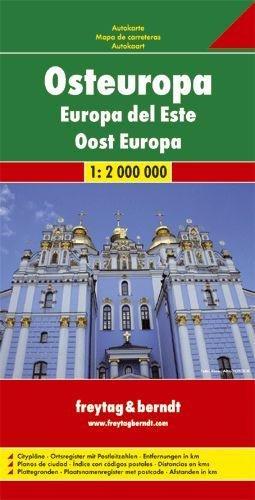 Osteuropa   autokaart, wegenkaart 1:2.000.000 9783707907537  Freytag & Berndt   Landkaarten en wegenkaarten Centraal- en Oost-Europa, Balkan, Siberië